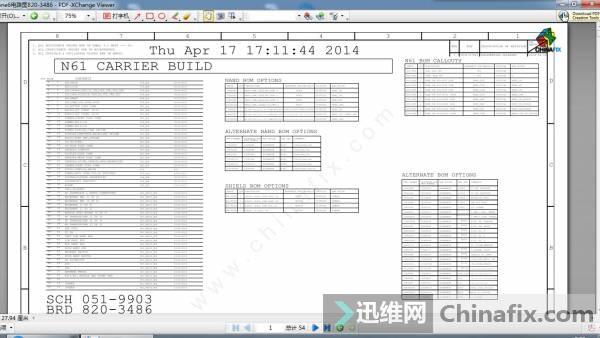 迅维网首发iphone6电路图820-3486 54页完整版