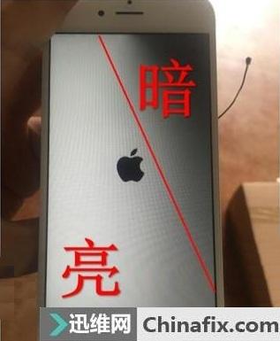 iPhone 6S开机阴阳屏故障维修