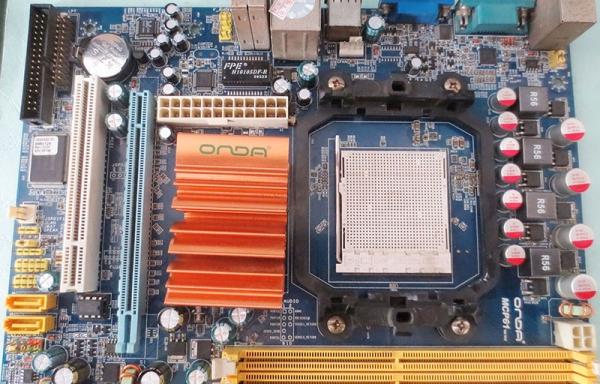 迅维实地修复第一块昂达mcp61主板不跑码故障